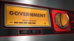 Government on Display of Vending Machine. Stock Illustration