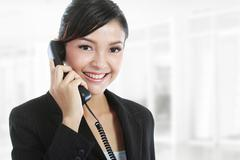 Stock Photo of business woman on phone call