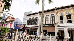 4k Ultra HD time lapse video of Arab Street, Singapore(TL-ARAB ST 2) Stock Footage