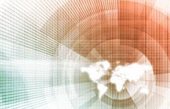 Worldwide tracking Stock Illustration