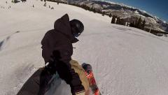 High Speed Skiing Crash Captured on GoPro Stock Footage