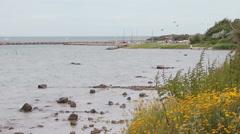 Coast at Timmendorf, Poel island, near Wismar Stock Footage