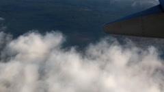 Passenger aircraft banking - stock footage