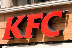 Kentucky Fried Chicken Restaurant Sign Stock Photos