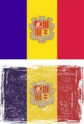 Andorra grunge flag. Vector illustration Stock Illustration