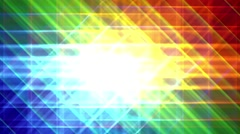 Prismatic grid star abstract background loop, rgb, red green blue bright 2 Stock Footage