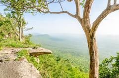hum - hod cliff, chaiyaphum, thailand - stock photo