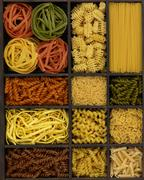 various noodles - stock photo