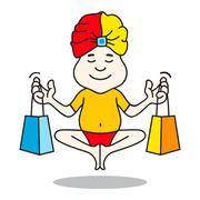 Expert guru shopping logo Stock Illustration