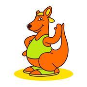 Kangaroo logo Stock Illustration