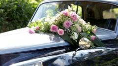 Oldtimer Rolls Royce /w flowers Stock Footage