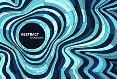 Abstract Wavy Background Stock Illustration