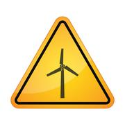 Danger sign with a winf propeller Stock Illustration