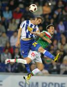 Ivan Alonso(L) of Espanyol fight with Castillo(R) of Bilbao Stock Photos