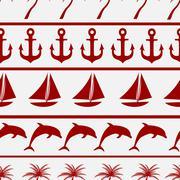 Sea seamless pattern background vector ilustration Stock Illustration