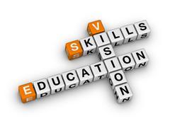 Skill vision education Stock Illustration