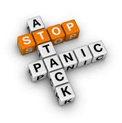 Stop panic attack Stock Illustration