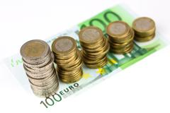 single european currency decreasing - stock photo