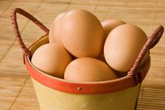 Stock Photo of bio eggs