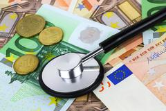 european currency sick concept - stock photo