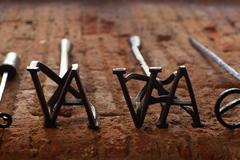 branding irons - stock photo