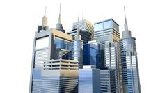 Shiny modern city cluster Stock Illustration