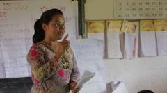 Health Educator in Cambodia Stock Footage