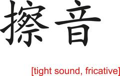 Chinese Sign for tight sound, fricative Stock Illustration