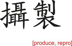 Chinese Sign for produce, repro - stock illustration