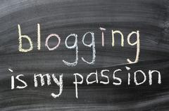 blogging is my passion - stock photo