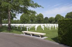 Netherlands american cemetery and memorial. Stock Photos