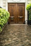 ancient luxury door - stock photo