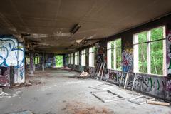 Messy abandoned factory room Kuvituskuvat