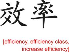 Chinese Sign for efficiency, increase efficiency - stock illustration