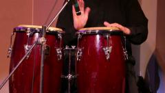 Musician plays percussions Stock Footage