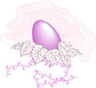 Easter  purple egg in the lace Stock Illustration