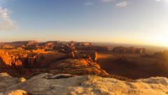 Monument Valley Timelapse from the Hunt's Mesa Stock Footage