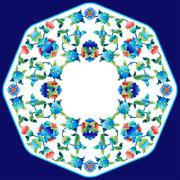 Ottoman motifs design series sixty two Stock Illustration