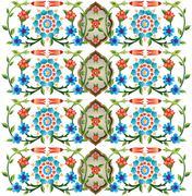 Ottoman motifs design series fifty eight Stock Illustration