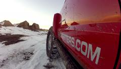 Jeep Cherokee in Snow - stock footage