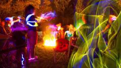 Glow Stick Timelapse Stock Footage