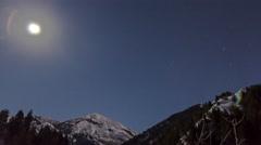 Mountain Top Moonlapse Stock Footage