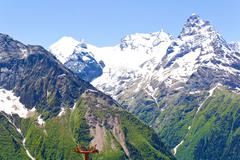 Caucasus rockies Stock Photos