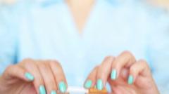 No Smoking close up - stock footage