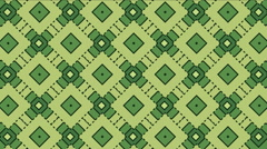 Green abstract pattern animated. Stock Footage