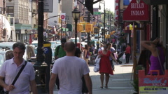 Smith Street in Cobble Hill. People Walking in Brooklyn. Trendy Brooklyn. Stock Footage
