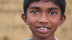 Portrait of local school boy in the foothills of Ella, Sri Lanka. Stock Footage