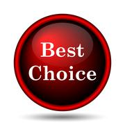 best choice icon - stock illustration