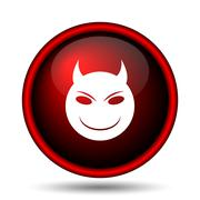 Evil icon Stock Illustration