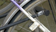 A part of the wheel of a bicycle gh4 Stock Footage